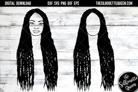 1000 afro american silhouette free vectors on ai, svg, eps or cdr. Afro Hair Long Braids 562304 Cut Files Design Bundles