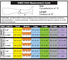 Ted Hose Size Chart Ultracare Anti Embolism Stockings Knee High