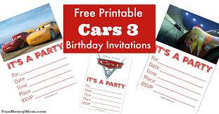 Free Printable Cars Birthday Invitations Fun Money Mom
