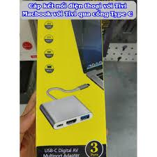Giá bán Cáp chuyển đổi cổng Type-C ra 3 đầu 【HDMI - TYPE C - USB】- Cáp Kết nối  điện thoại với Tivi - Macbook với Tivi