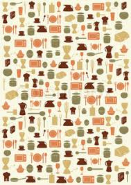 Kitchen utensils background Stock Vector Colourbox