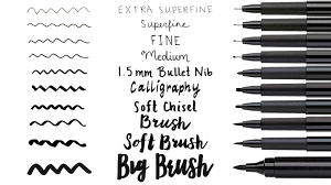 How To Identify The Tip Nib Size Of The Pitt Artist Pen