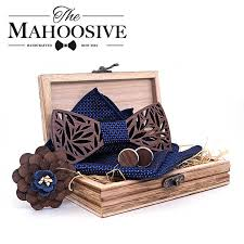 Paisley <b>Wooden Bow</b> Tie Handkerchief Set <b>Men's</b> Plaid Bowtie ...
