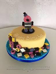 Liquorice Allsorts Cake Designs Liquorice Allsorts Birthday Cake Featuring Bertie Basset
