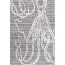 thomas paul octopus grey 8 ft x 10 ft area rug