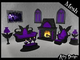 purple living room furniture. Mesh Gothic Wings Purple Living Room Set Goth Furniture Vampire L