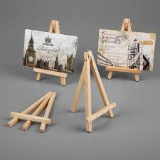 Painting Display Stands 100pcs Mini Wooden Painting Name Card Easel Stand Display Holder 55