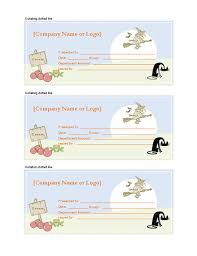 Word Templates For Gift Certificates Halloween Gift Certificates Microsoft Word Template Gift
