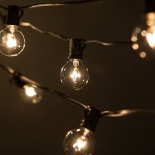 outdoor patio string bulb lights