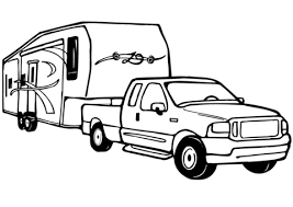 Tractor Trailer Coloring Page Inspirational Truck And Trailer