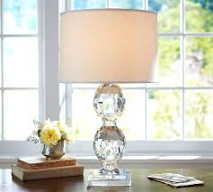 lamps crystal lamp base small table faceted pottery barn fionna lamps crystal lamp base small table faceted pottery barn fionna