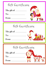 Certificates Brilliant Christmas Gift Certificate Template