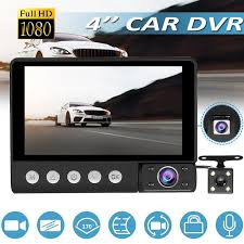 C9 <b>3 Lens</b> Car DVR Camera 4 inch LCD 1080p IR Night Vision ...