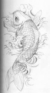 кои эскиз Umfdidumf красивые рисунки татуировки рыбы карп тату