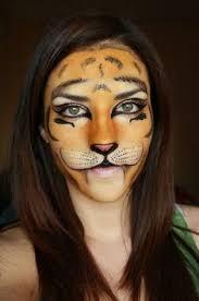 deea make up make up tigrisor female tiger face paint