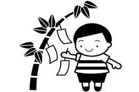 無料素材七夕のイラスト簡単or白黒or手書き じゃぱねすくライフ