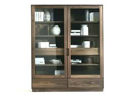 Black Glass Cabinet Display Solid Wood By  Cabinets For Sale C39