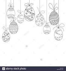Easter Template Vector Easter Invitation Card From Doodle Easter Eggs Hand