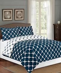 all gone navy blue white bloomingdale geometric duvet cover set