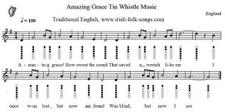 Bagpipe Finger Chart Amazing Grace Amazing Grace Sheet Music Easy Version Tin Whistle Music