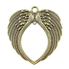 wysiwyg 3 pieces pendants for jewelry making metal charm pendant necklace big double wing 74x69mm