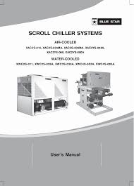 Pdf Air Cooled Water Cooled Scroll Chiller Systems Users