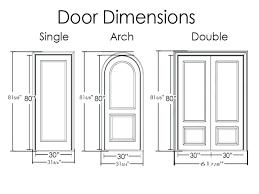 Average Front Door Height Uk
