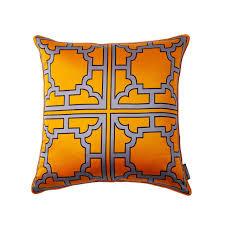 thurston reed  mannette  orange   silk decorative pillow