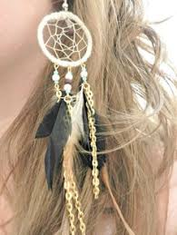 Dream Catcher Earing White Room Feather Dream Catcher Earrings by ShopCaravanCurrent 13