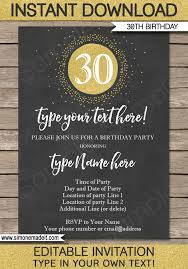 30th birthday invitations template