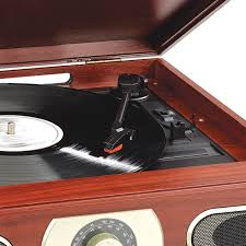 studebaker sb6052 wooden turntable with am fm radio cassette player com