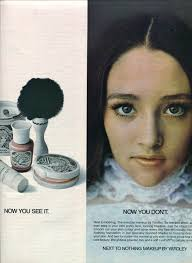 finnfemme olivia hussey and next to nothing makeup by yardley 1969 ad