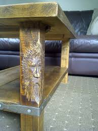 chainsaw carving galleries coffee table wood spirit