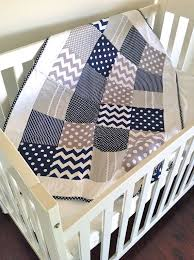 Baby Boy Crib Quilt in modern navy and by AlphabetMonkey on Etsy ... & Baby Boy Crib Quilt in modern navy and by AlphabetMonkey on Etsy Adamdwight.com