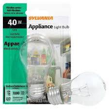 sylvania incandescent appliance light bulb 40w 1 pk lighting electrical home garden