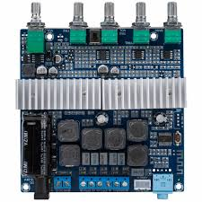 2 x 50w 100w class d 2 1 bluetooth 4 0 amplifier board with filter and volume controls