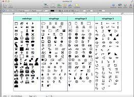 Microsoft Word Wingdings Chart Webdings 2 Chart 10 Wingdings Chart Templates