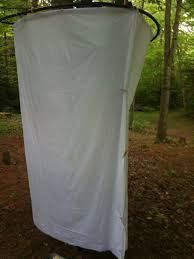 picture of diy camp shower enclosure