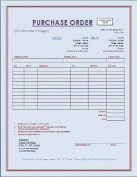 Purchase Order Template Free Microsoft Word Templates Free