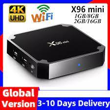 X96 mini X96mini Smart TV BOX Android 7.1 2GB/16GB TVBOX X 96 mini Amlogic  S905W H.265 4K 2.4GHz WiFi Media Player Set Top Box|wifi set top box|smart  tv boxsmart tv box android -