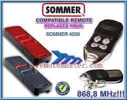 for sommer remote 4035 sommer garage door