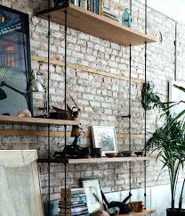 floating shelves on brick wall delectable black shelves on brick wall putting in empty wood old background