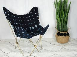 <b>Indigo</b> Mudcloth <b>Butterfly Chair</b> / African by NomadCloth on Etsy ...
