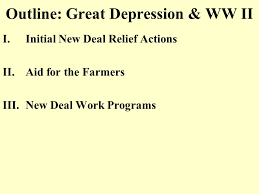 outline great depression ww ii ppt  outline great depression ww ii