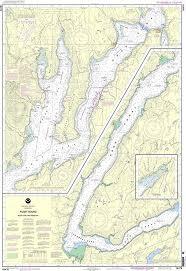 Noaa Chart 18476 Puget Sound Hood Canal And Dabob Bay