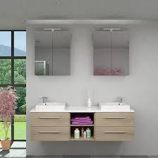 Badmöbel Set City 307 V1 Eiche Hell Badezimmermöbel Waschtisch 160cm