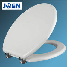 china 18inch mdf white soft close toilet seat cover with zinc alloy plastic hinges china mdf toilet seat toilet seat