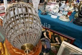 crystal chandelier at the flea market flohmarkt am naschmarkt in vienna austria