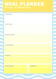 Daily Food Planner Daily Food Menu Template Daily Food Menu Template Healthy Food Menu