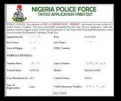 The Abc Of Getting Tinted Glass Permit In Nigeria Naijauto Com